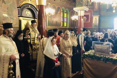Υποδοχή Ιερών Σεβασμάτων των Τριών Ιεραρχών στον Άγιο Χαράλαμπο Λενταριανών