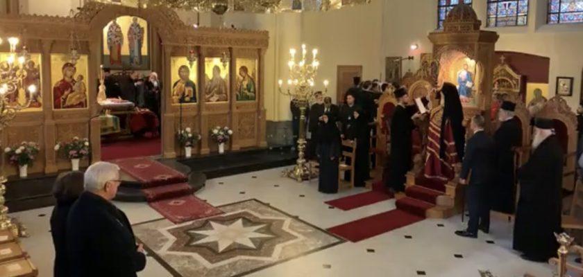 Ο Σεβασμιώτατος Ποιμενάρχης μας στην Πατριαρχική Θεία Λειτουργία στο Βέλγιο